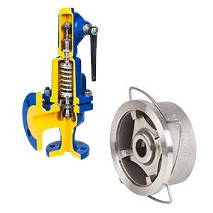 Предохранительная арматура, Предохранительный клапан, обратный клапан